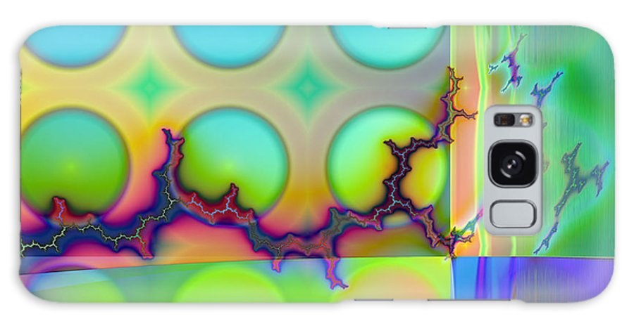Fractal Galaxy Case featuring the digital art Lightning Path by Frederic Durville