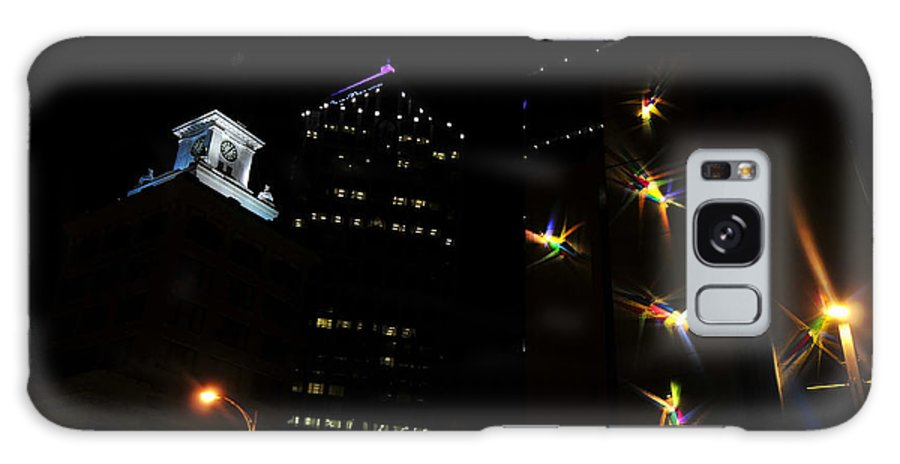 Night Lights Galaxy S8 Case featuring the photograph Lights On Tampa by David Lee Thompson