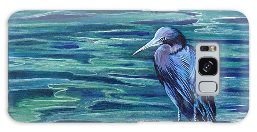 Acrylic Painting Galaxy S8 Case featuring the painting Looking For Lunch by Susan Duda