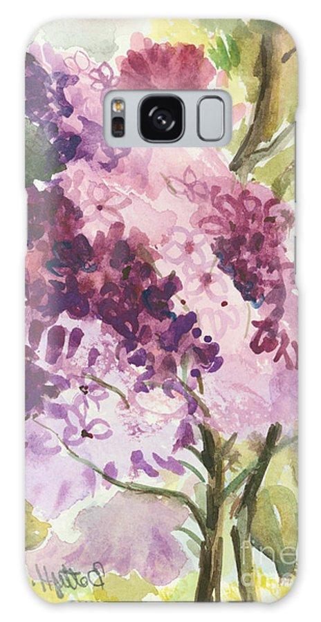 Original Galaxy S8 Case featuring the painting Lilacs - Note Card by Elisabeta Hermann