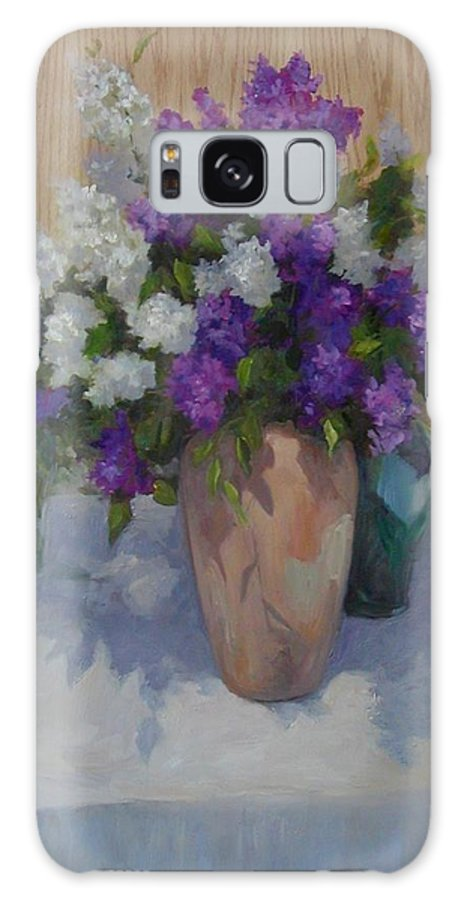 Lilacs Galaxy S8 Case featuring the painting Lilacs by Patricia Kness