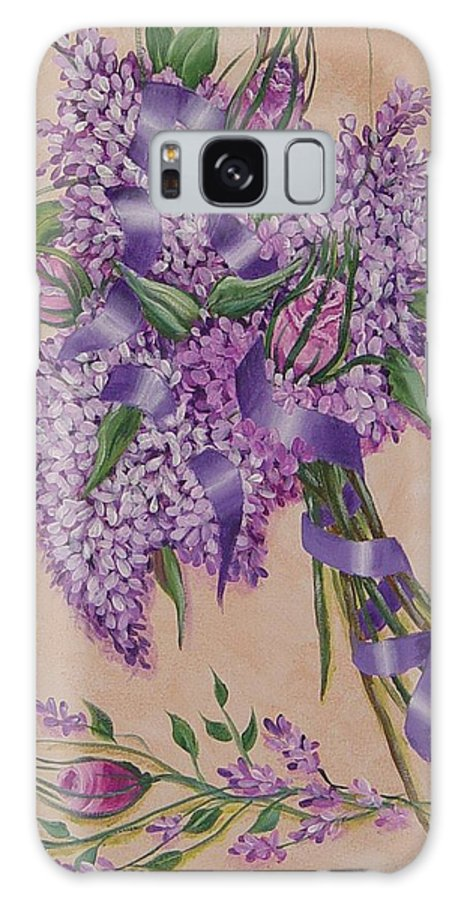 Lilacs Galaxy S8 Case featuring the painting Lilacs by Quwatha Valentine