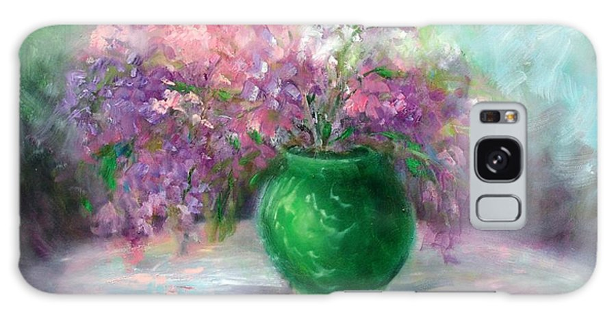 Flowers Galaxy S8 Case featuring the painting Lilacs by Sally Seago