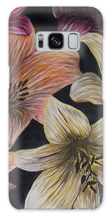 Lily Galaxy Case featuring the painting Lilies by Emily Young