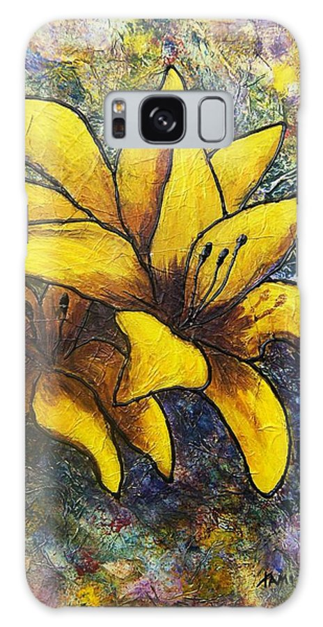 Flowers Galaxy S8 Case featuring the painting Lilies by Tami Booher