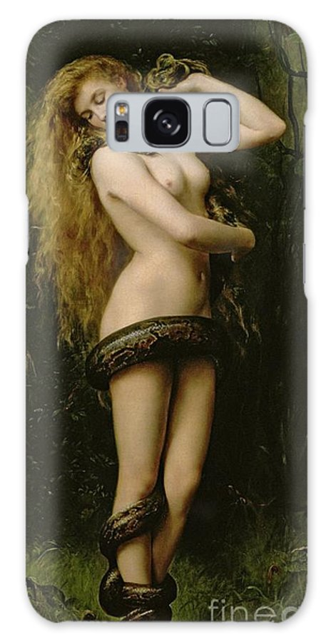 Nude; Female; Snake; Long Hair; Pre-raphaelite; Lilith Galaxy S8 Case featuring the painting Lilith by John Collier