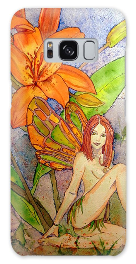 Faerie Galaxy S8 Case featuring the painting Lillian Keeper Of Both Wealth And Pride - Watercolor by Donna Hanna