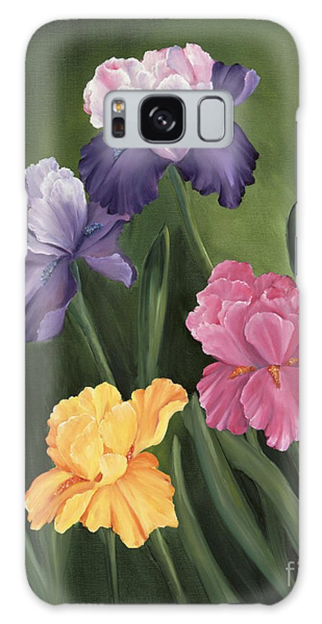Iris Galaxy S8 Case featuring the painting Lill's Garden by Carol Sweetwood