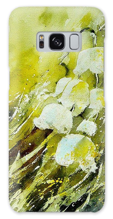Flowers Galaxy S8 Case featuring the painting Lilly Of The Valley by Pol Ledent