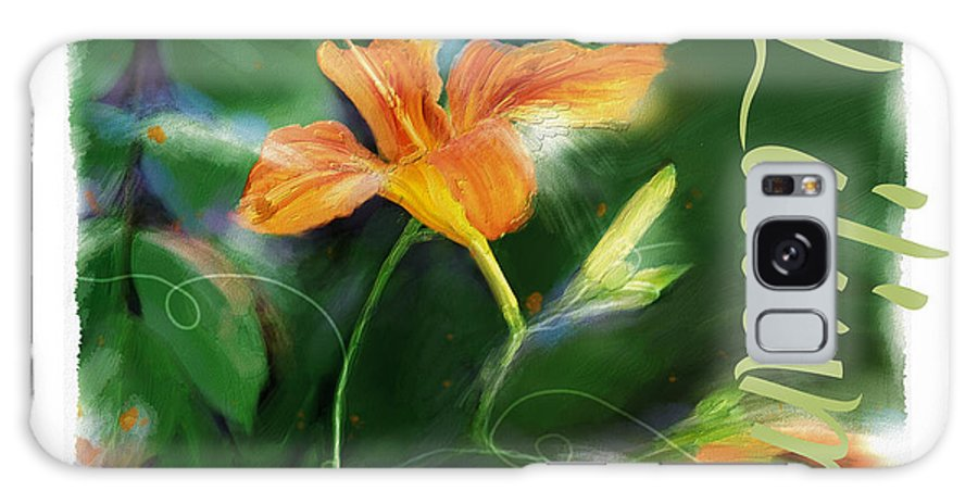Poster Galaxy S8 Case featuring the painting Lily by Bob Salo