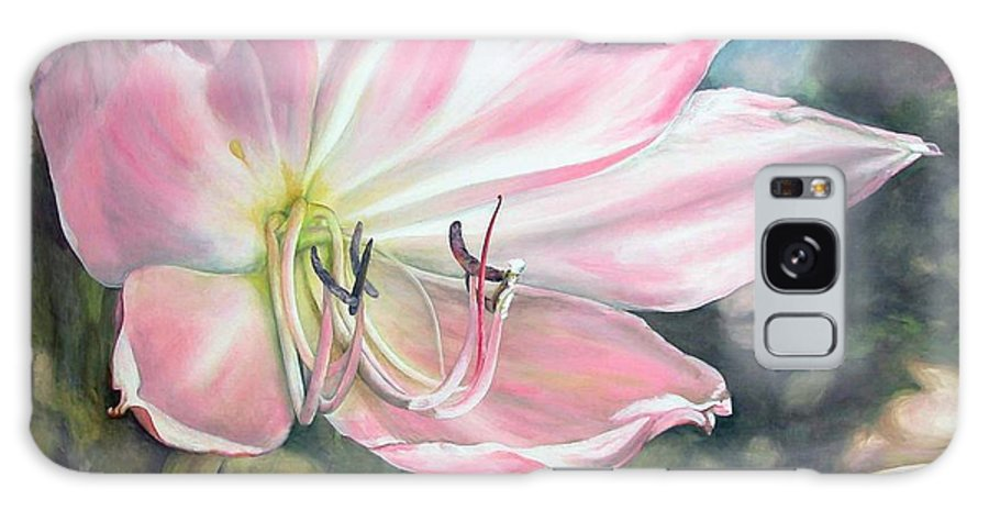 Floral Painting Galaxy Case featuring the painting Lily by Muriel Dolemieux