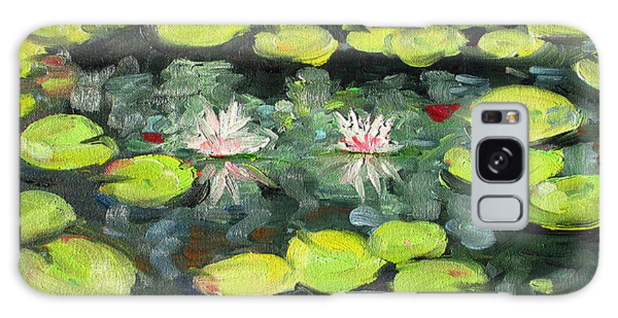 Pond Galaxy Case featuring the painting Lily Pond by Paul Walsh