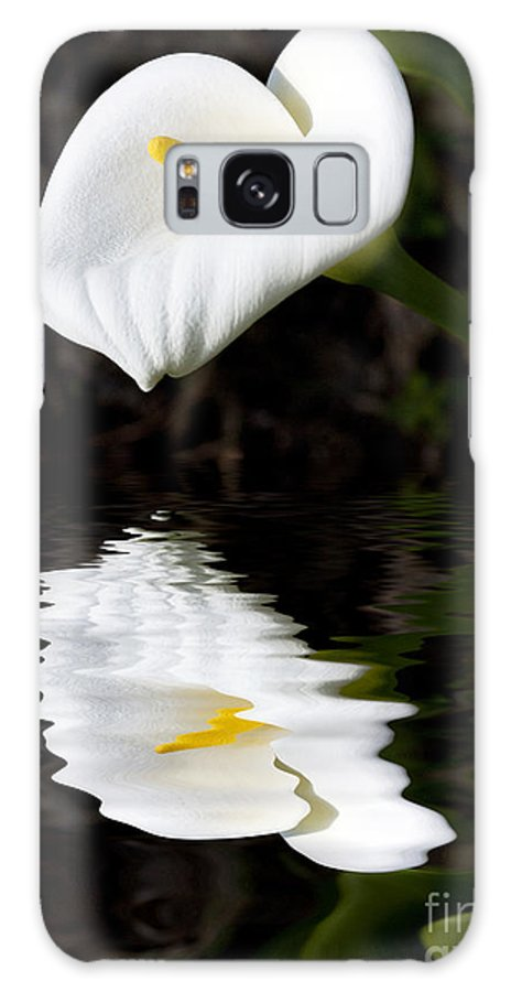 Lily Reflection Flora Flower Galaxy Case featuring the photograph Lily reflection by Sheila Smart Fine Art Photography