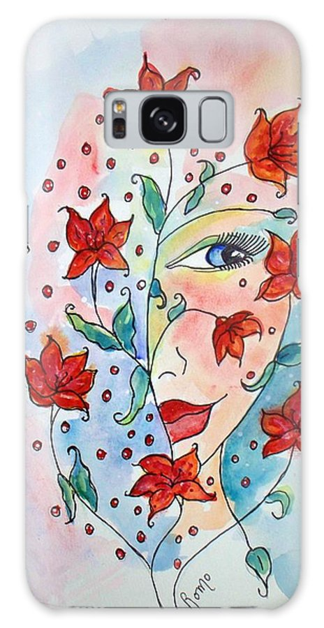 Lily Galaxy S8 Case featuring the painting Lily by Robin Monroe