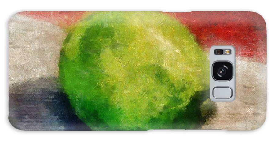 Lime Galaxy S8 Case featuring the painting Lime Still Life by Michelle Calkins