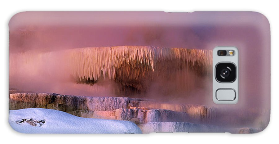 North America Galaxy S8 Case featuring the photograph Limestone Artwork Minerva Springs Yellowstone National Park by Dave Welling