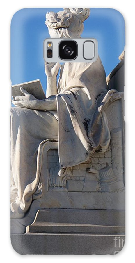 Lincoln Galaxy S8 Case featuring the painting lincoln statue Gettysburg PA by Eric Schiabor