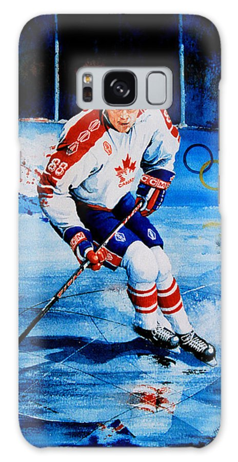 Sports Art Galaxy S8 Case featuring the painting Lindros by Hanne Lore Koehler