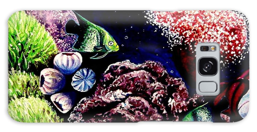 Fish Galaxy S8 Case featuring the painting Lindsay's Aquarium by Elizabeth Robinette Tyndall