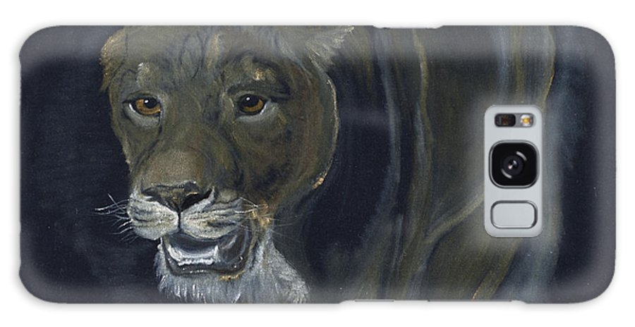 Oil On Velvet Galaxy S8 Case featuring the painting Lion Female by Claudia Luethi alias Abdelghafar