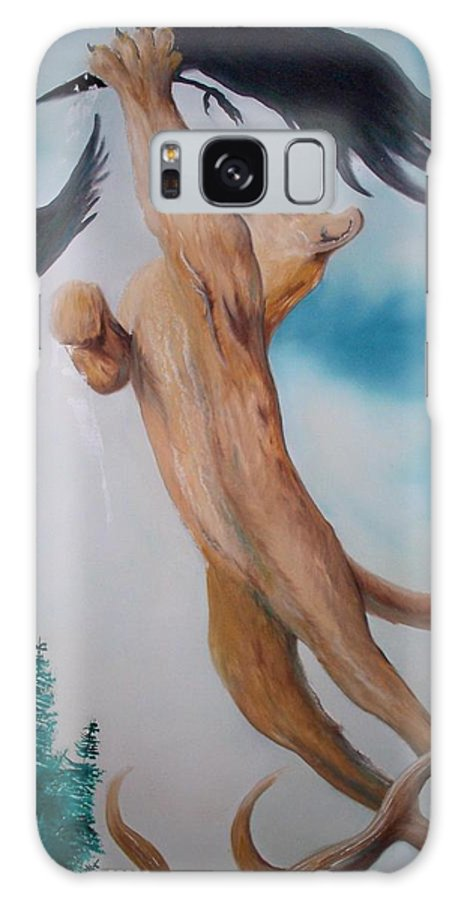 Lion Galaxy Case featuring the painting Lion King by Patrick Trotter