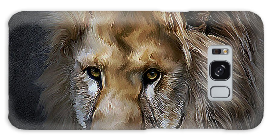 Galaxy S8 Case featuring the mixed media Lion Portraits 0055 by G Berry