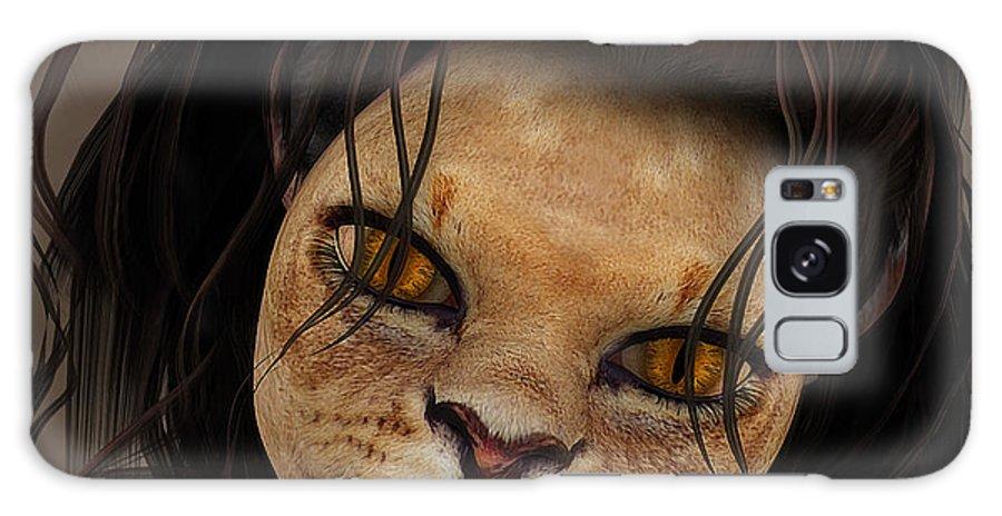3d Galaxy S8 Case featuring the digital art Lioness by Jutta Maria Pusl