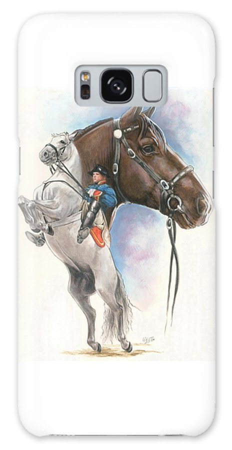 Spanish Riding School Galaxy S8 Case featuring the mixed media Lippizaner by Barbara Keith
