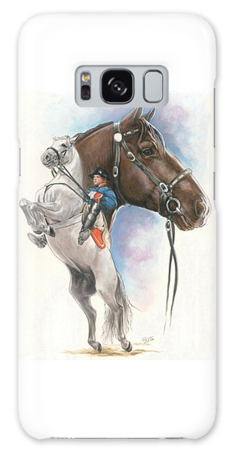 Spanish Riding School Galaxy Case featuring the mixed media Lippizaner by Barbara Keith