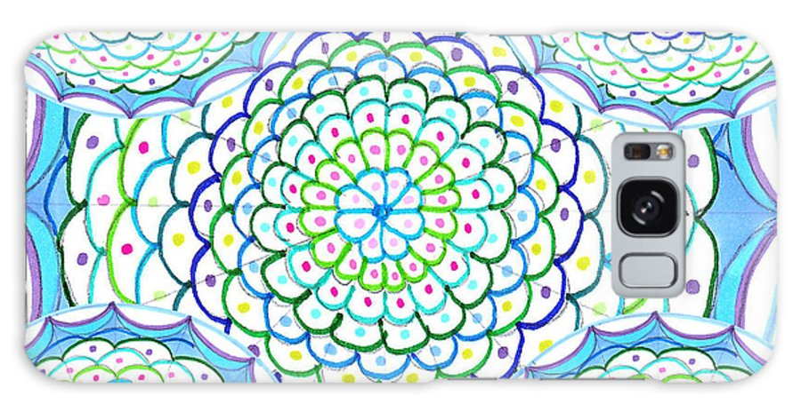 Mandala Galaxy S8 Case featuring the drawing Listen And Take Action II by Signe Beatrice