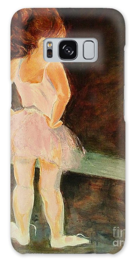Ballerina Galaxy S8 Case featuring the painting Little Ballerina by Madeleine Holzberg