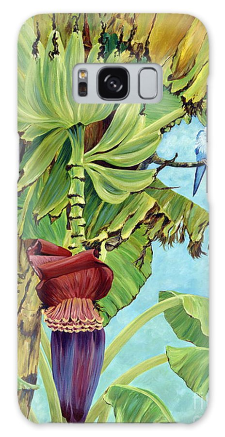 Tropical Galaxy S8 Case featuring the painting Little Blue Quaker by Danielle Perry