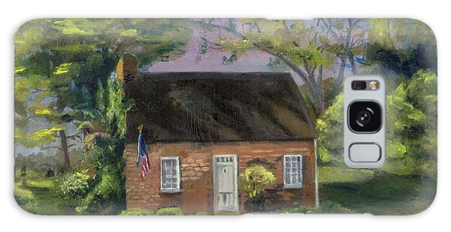 Brick House Galaxy S8 Case featuring the painting Little Brick House by Gloria Condon