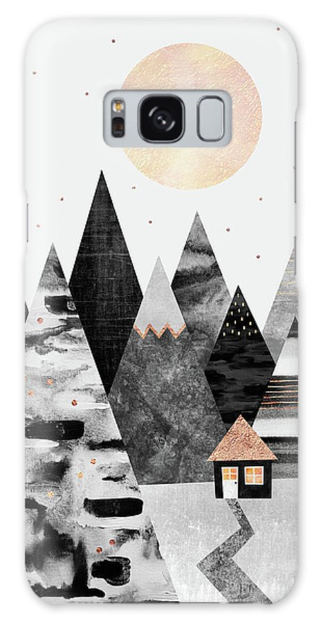 Graphic Galaxy Case featuring the digital art Little Cabin by Elisabeth Fredriksson