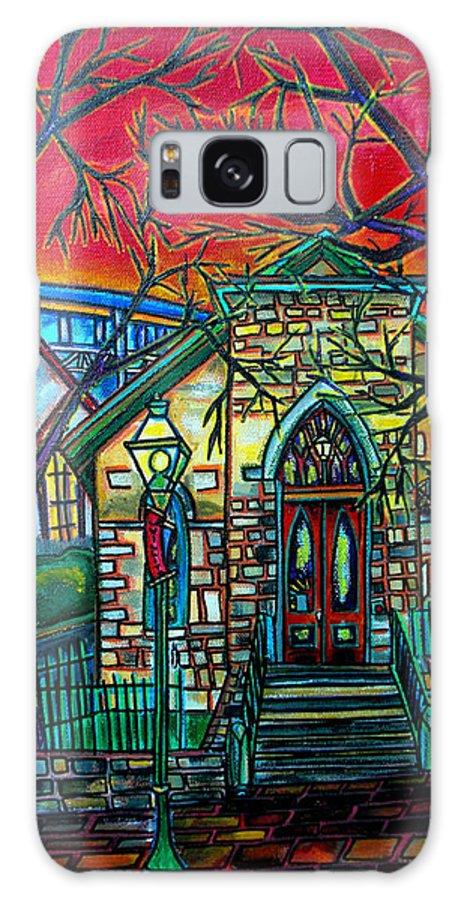 Church Galaxy S8 Case featuring the painting Little Church At La Villita by Patti Schermerhorn