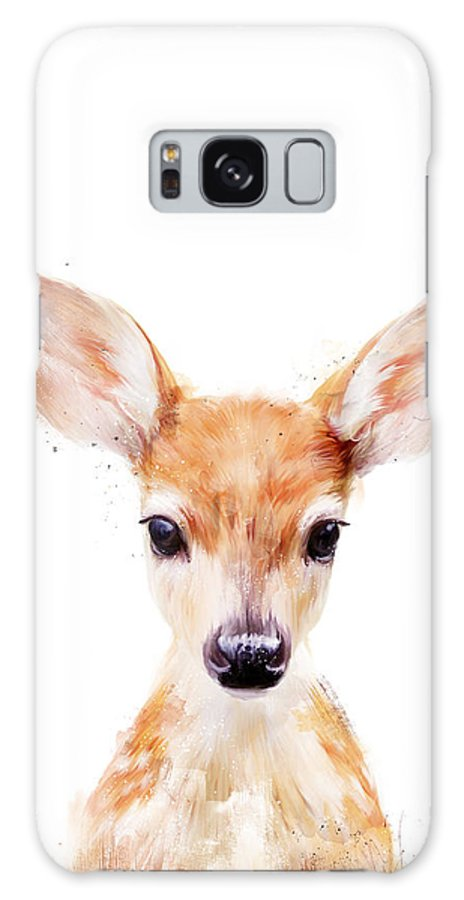 Fawn Galaxy S8 Case featuring the painting Little Deer by Amy Hamilton