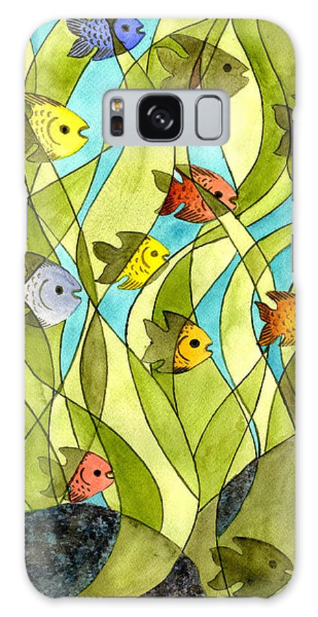 Fish Galaxy S8 Case featuring the painting Little Fish Big Pond by Catherine G McElroy