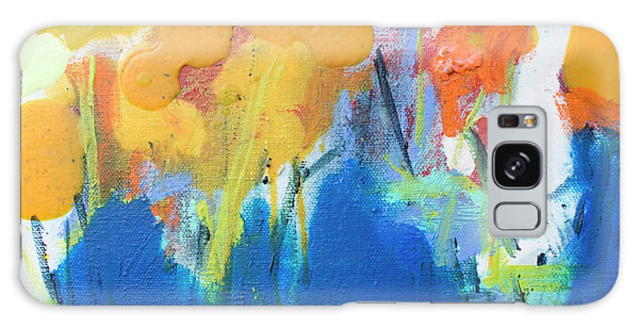 Abstract Galaxy Case featuring the painting Little Garden 02 by Claire Desjardins
