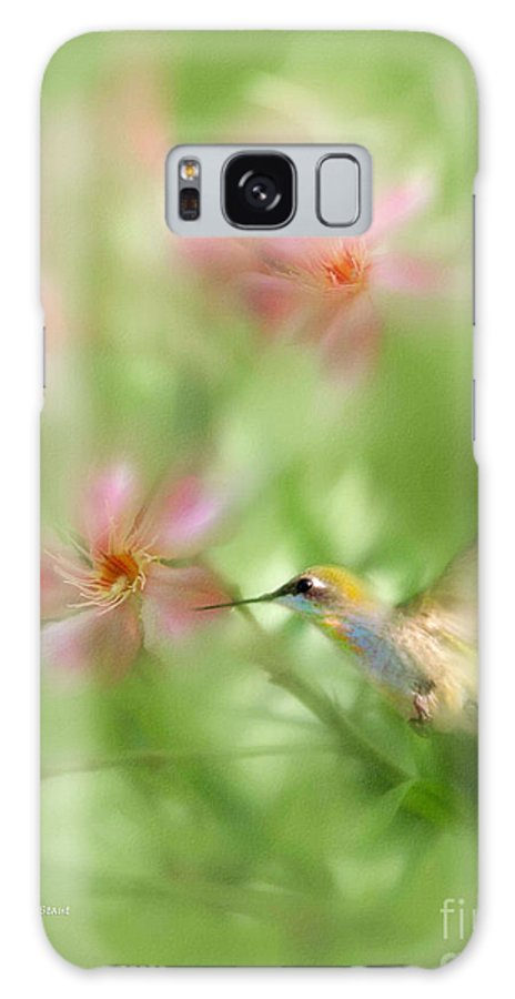 Garden Hummingbird Floral Green Tropical Oleander Galaxy S8 Case featuring the photograph Little Miracles by Carolyn Staut