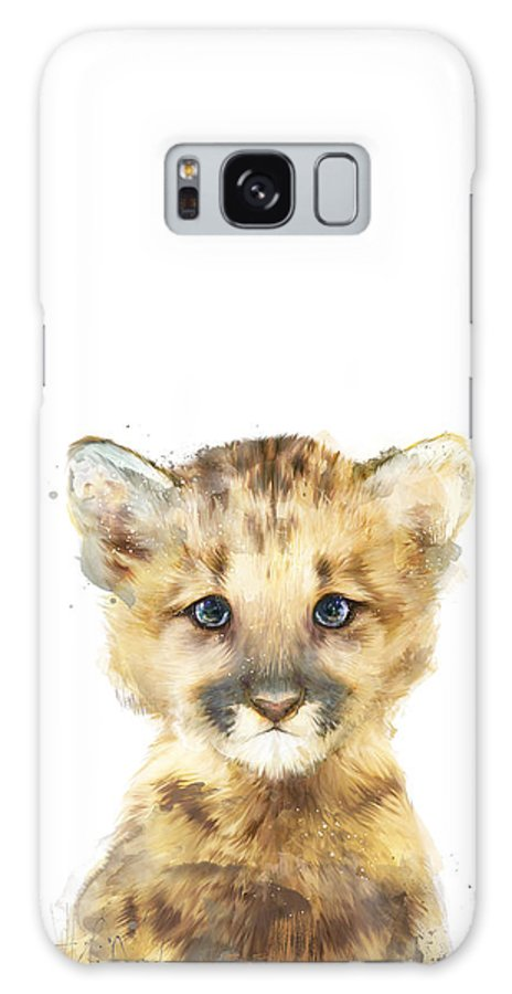 Mountain Lion Galaxy Case featuring the painting Little Mountain Lion by Amy Hamilton
