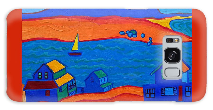 Landscape Galaxy Case featuring the painting Little Neck Cottages by Debra Bretton Robinson