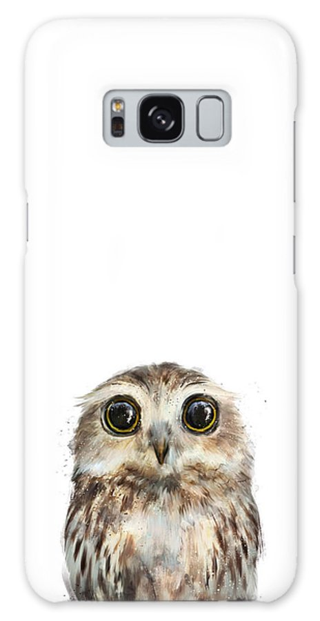 Owl Galaxy Case featuring the painting Little Owl by Amy Hamilton