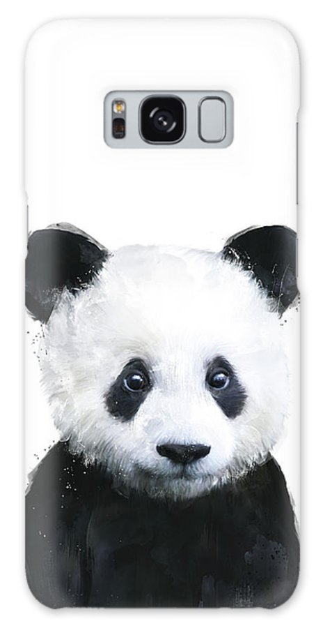 Panda Galaxy S8 Case featuring the painting Little Panda by Amy Hamilton