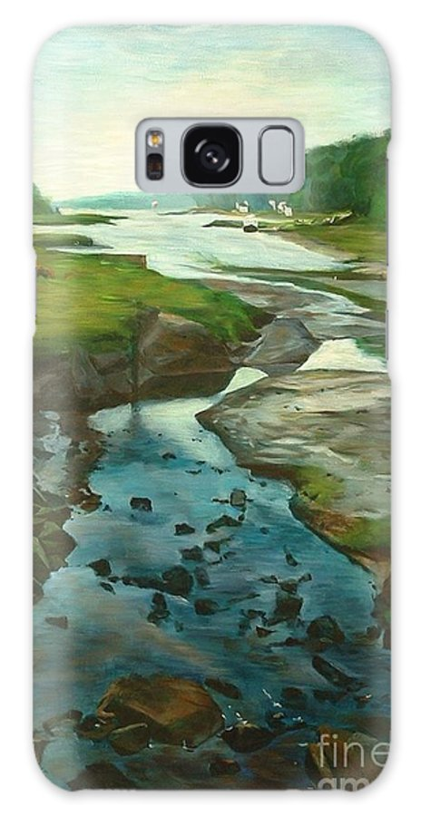 River Galaxy S8 Case featuring the painting Little River Gloucester by Claire Gagnon