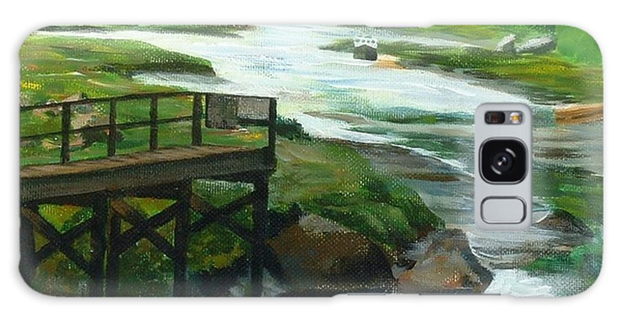 River Galaxy S8 Case featuring the painting Little River Gloucester Study by Claire Gagnon