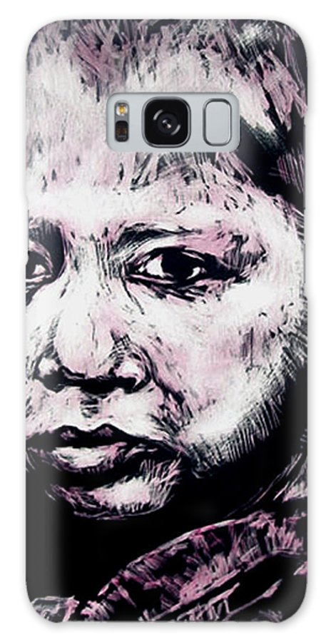 Galaxy Case featuring the mixed media Little Rosita by Chester Elmore