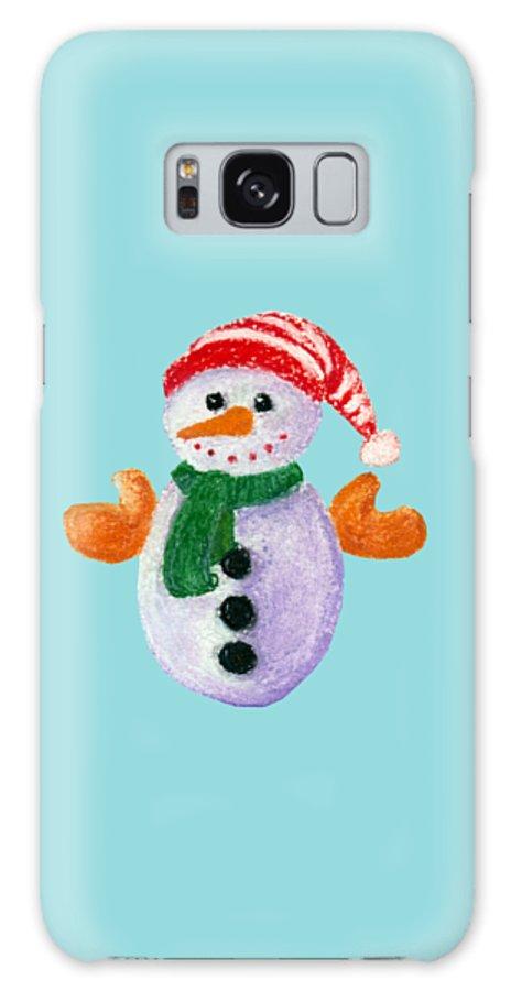 Decorative Galaxy S8 Case featuring the painting Little Snowman by Anastasiya Malakhova