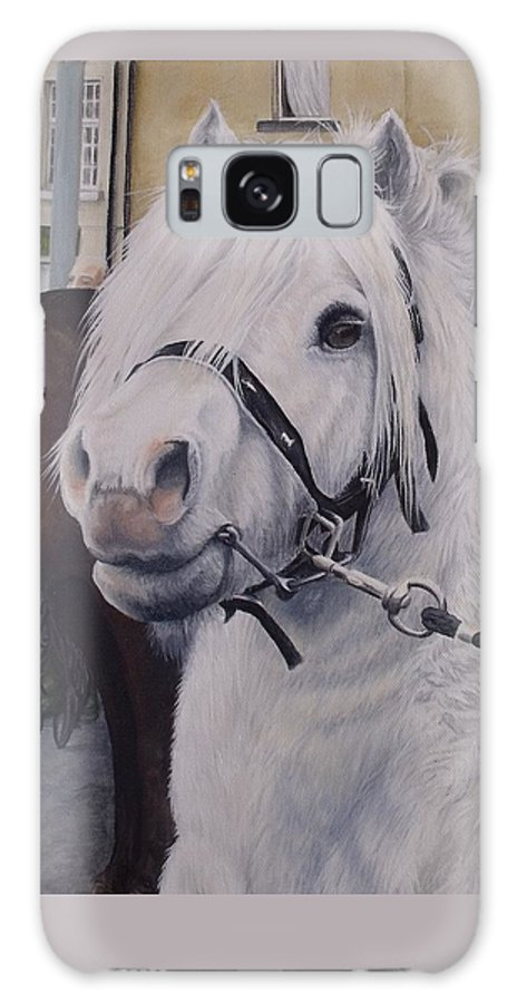 Portrait Galaxy S8 Case featuring the painting Little Stallion-glin Fair by Pauline Sharp