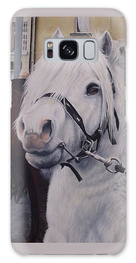 Portrait Galaxy S8 Case featuring the painting Little Stallion-glin Fair by Pauline Sharp