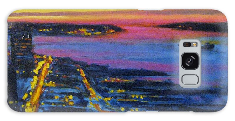 Night Scenes Galaxy S8 Case featuring the painting Live Eye Over Dartmouth Ns by John Malone